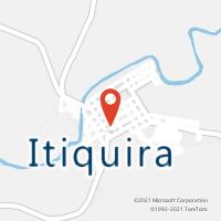 Mapa com localização da Agência AC ITIQUIRA