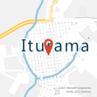 Mapa com localização da Agência AC ITURAMA