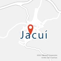 Mapa com localização da Agência AC JACUI