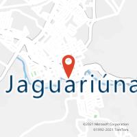 Mapa com localização da Agência AC JAGUARIUNA