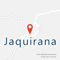 Mapa com localização da Agência AC JAQUIRANA