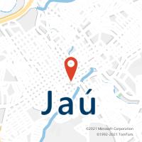 Mapa com localização da Agência AC JAU