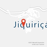 Mapa com localização da Agência AC JIQUIRICA