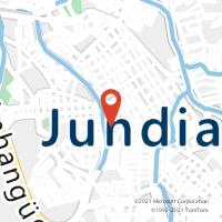 Mapa com localização da Agência AC JUNDIAI