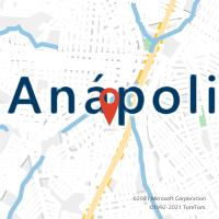 Mapa com localização da Agência AC JUSSARA
