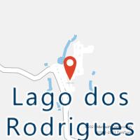 Mapa com localização da Agência AC LAGO DOS RODRIGUES