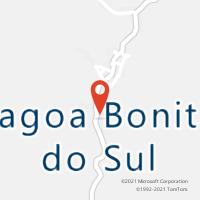 Mapa com localização da Agência AC LAGOA BONITA DO SUL