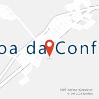 Mapa com localização da Agência AC LAGOA DA CONFUSAO