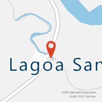 Mapa com localização da Agência AC LAGOA SANTA