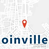Mapa com localização da Agência AC LAURENTINO