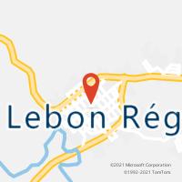 Mapa com localização da Agência AC LEBON REGIS