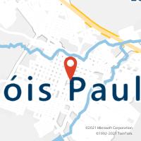 Mapa com localização da Agência AC LENCOIS PAULISTA