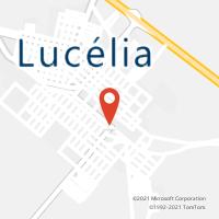 Mapa com localização da Agência AC LUCELIA