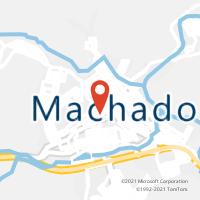 Mapa com localização da Agência AC MACHADO