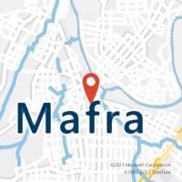 Mapa com localização da Agência AC MAFRA