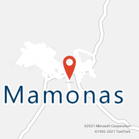 Mapa com localização da Agência AC MAMONAS