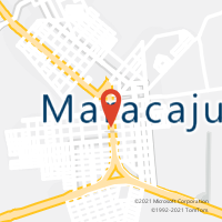 Mapa com localização da Agência AC MARACAJU
