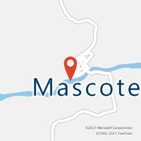Mapa com localização da Agência AC MASCOTE