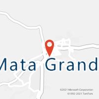 Mapa com localização da Agência AC MATA GRANDE