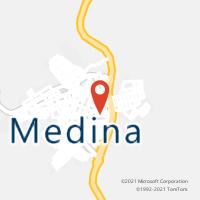 Mapa com localização da Agência AC MEDINA