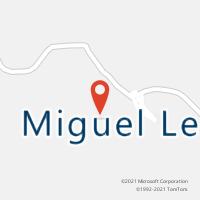 Mapa com localização da Agência AC MIGUEL LEAO