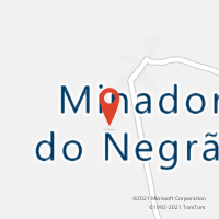 Mapa com localização da Agência AC MINADOR DO NEGRAO