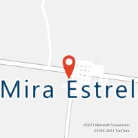 Mapa com localização da Agência AC MIRA ESTRELA