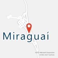 Mapa com localização da Agência AC MIRAGUAI