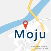Mapa com localização da Agência AC MOJU