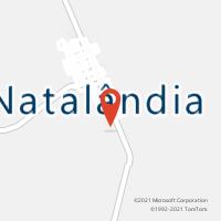Mapa com localização da Agência AC NATALANDIA