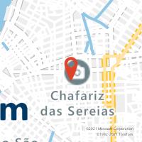 Mapa com localização da Agência AC NAZARE
