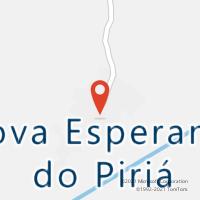 Mapa com localização da Agência AC NOVA ESPERANCA DO PIRIA