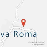 Mapa com localização da Agência AC NOVA ROMA