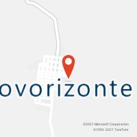 Mapa com localização da Agência AC NOVORIZONTE
