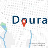 Mapa com localização da Agência AC OURO VERDE