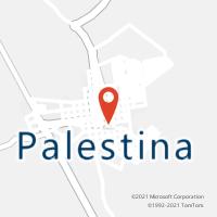 Mapa com localização da Agência AC PALESTINA