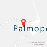 Mapa com localização da Agência AC PALMOPOLIS