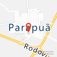 Mapa com localização da Agência AC PARAPUA