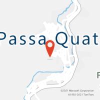 Mapa com localização da Agência AC PASSA QUATRO