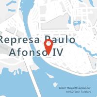 Mapa com localização da Agência AC PAULO AFONSO