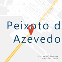 Mapa com localização da Agência AC PEIXOTO DE AZEVEDO