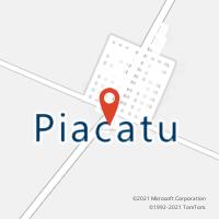 Mapa com localização da Agência AC PIACATU