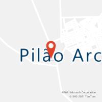 Mapa com localização da Agência AC PILAO ARCADO