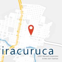 Mapa com localização da Agência AC PIRACURUCA