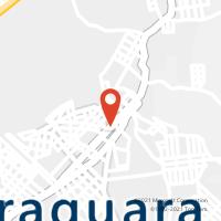 Mapa com localização da Agência AC PIRAQUARA