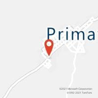 Mapa com localização da Agência AC PRIMAVERA