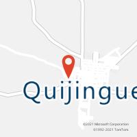 Mapa com localização da Agência AC QUIJINGUE