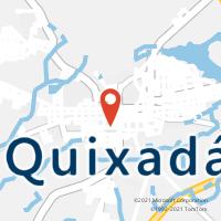 Mapa com localização da Agência AC QUIXADA