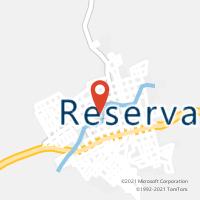 Mapa com localização da Agência AC RESERVA