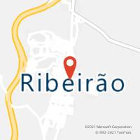 Mapa com localização da Agência AC RIBEIRAO